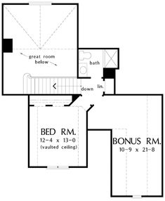 The Valmead Park House Plans Second Floor Plan - House Plans by Designs Direct has plans from the nation's top designers. Traditional House Plans, Traditional Design, One Story Homes, Craftsman Style Homes, Park Homes, Story House, Classic House, Plan Plan, How To Plan