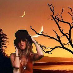 Photo of Moonlight Stevie for fans of Stevie Nicks. Stevie under the moon