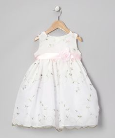 Take a look at this Dimples Pink Organza Flower Dress - Infant, Toddler & Girls by Dimples on #zulily today!