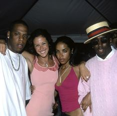 """Aaliyah, JayZ, and Diddy at JayZ's """" Big Pimpin' """" party during 2000 Aaliyah Miss You, Rip Aaliyah, Aaliyah Style, 90s Hip Hop, Hip Hop And R&b, Young Jay Z, Choosey Lover, Aaliyah Pictures, Vintage Black Glamour"""