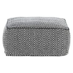 DURRIE Monochrome patterned floor cushion ($120) ❤ liked on Polyvore featuring home, home decor, throw pillows, patterned throw pillows and textured throw pillows