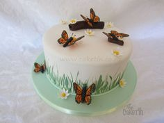 Monarch Butterfly Cake - by The Cake Tin @ CakesDecor.com - cake decorating website