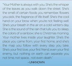 I'd be nowhere without my Mom!