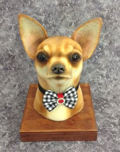 Chihuahua faux taxidermy style bust by LisaPay on Etsy