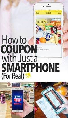 How to Coupon with Just a Smartphone (for Real) - - Couponing can seem super complicated when you first try it out. From newspaper inserts to rewards programs and coupon stacking, we get it! I have good news, though: To get started couponing right a. Extreme Couponing, How To Start Couponing, Couponing For Beginners, Couponing 101, Save Money On Groceries, Ways To Save Money, Money Saving Tips, Coupons For Groceries, Money Savers