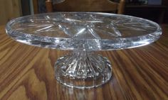 Waterford Pedestal Crystal Serving Baking Cooking Cake Plate Wedding Anniversary