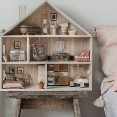 """1,019 Likes, 43 Comments - Poppytalk (@poppytalk) on Instagram: """"Insert us here! @annamalmbergphoto dollhouse is genius and can we just move into that bedroom right…"""""""