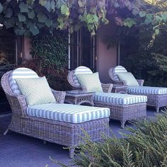 Love these gorgeous sun lounges by @paulbangay  Rebecca #fabulous #outdoorliving #sunshine #wickerfurniture #love