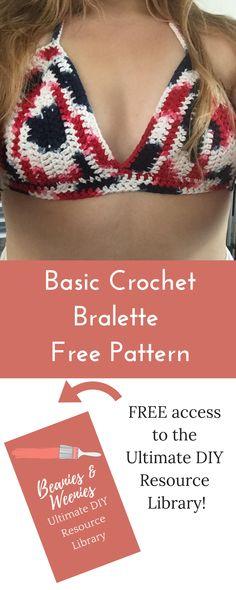 Crochet Bra, Crochet Bikini Pattern, Crochet Bikini Top, Crochet Shirt, Free Crochet, Swimsuit Pattern, Crochet Summer, Crochet Crafts, Crochet Patterns