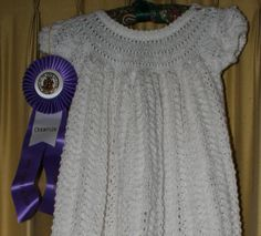 Knitted Dutch Infant's Christening Gown by EverythingLovedAgain, $110.00