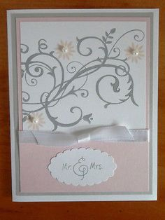 Stampin Up Handmade Greeting Card Wedding Anniversary Bridal Shower in Crafts, Handcrafted & Finished Pieces, Greeting Cards & Gift Tags | eBay