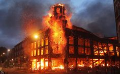 Burning building from the #Englishriots #cominginsurrection #invisiblecommittee