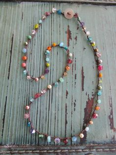 Ultra Dainty crochet necklace Tiny Treasures Multi by slashKnots