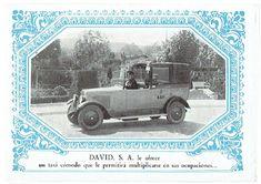 folleto de publicidad Taxis David S.A. #Barcelona