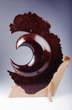 "*Wood Sculpture - ""Greatwave Warrior"" by David Nittmann"