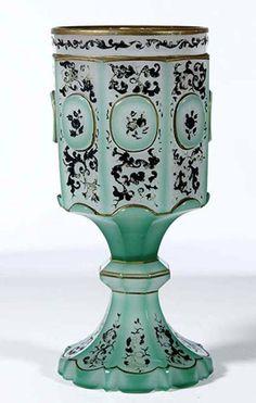 276: Pokal Bohemia Glass Goblet Vintage Old Antique : Lot 276