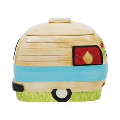 Keep homemade cookies safely stowed in this charmingly designed cookie jar. Made from ceramic in the shape of a camping van, this Happy Camper Cookie Jar will remind you of pleasant memories of past ca...  Find the Happy Camper Cookie Jar, as seen in the Glamping in the Lone Star State Collection at http://dotandbo.com/collections/glamping-in-the-lone-star-state?utm_source=pinterest&utm_medium=organic&db_sku=112903