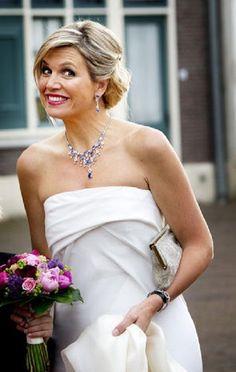 Koningin  Maxima woont het gala concert van de 'Koninklijke Sophia's Vereniging' uit Loon op Zand in Kaatsheuvel bij 2014/05/22.