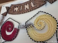 String Art DIY Kit - Free Shipping -Red Wine -White Wine -Arts and Crafts Project -Home Decor -DIY Kit -String, Nails, Instructions, Pattern
