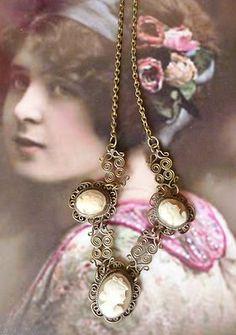 antique cameo necklace
