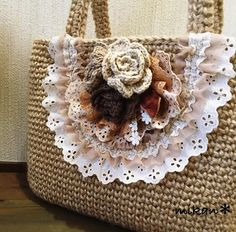 Crochet Shell Stitch, Form Crochet, Crochet Patterns, Crochet Handbags, Crochet Purses, Plastic Bag Holders, Diy Tote Bag, Straw Handbags, Boho Bags