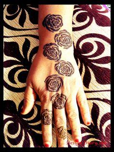 10 Stunning Rose Mehndi Designs for all occasions Mehendi, Henna Mehndi, Bridal Mehndi, Henna Art, Rose Mehndi Designs, Beautiful Henna Designs, Henna Tattoo Designs, Henna Tattoos, Simple Henna