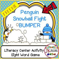 This FREEBIE has a Sight word game to use in a Literacy center. The game board has 8 sight words.  Students will LOVE playing this BUMPER Game patterned after the familiar Bump Math game. Included in this set is an EDITABLE mat and EDITABLE cards so ANY words can be added.