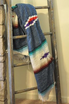 Retro Tribal Mexican SOUTHWESTERN throw BLANKET Vintage by Aligras, $40.00   SOLD