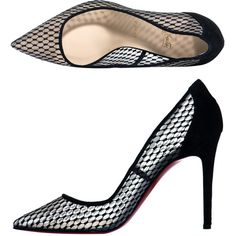 Christian Louboutin Pigaresille 100mm pumps ($704) ❤ liked on Polyvore