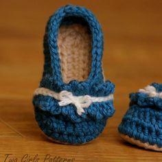 Ruffle Ballet Flat Baby Bootie  Crochet Pattern #crochet #bootie