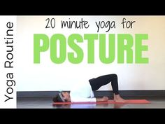 This is a strengthening corrective yoga for posture sequence designed specifically to strengthen your back muscles, pull your shoulders back, and teach body ...