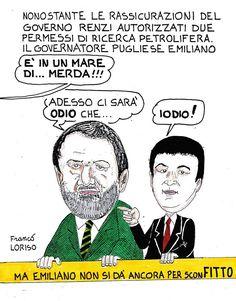 Franco Loriso e le sue vignette su Onda Lucana (si ringrazia per la cortese concessione).
