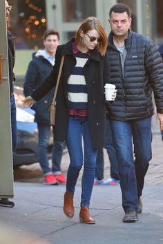 Emma Stone Leaving Cafe Cluny in NYC 12/27/2014