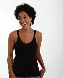 Melinda G Cami Sutra� #Nursing Cami - This fitted-but-not-tight cami has a seamless tee-shirt soft-cup nursing bra!