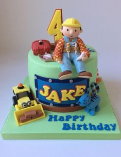 Amazing 107 Best Bob The Builder Cake Images Bob The Builder Cake Bob Funny Birthday Cards Online Elaedamsfinfo