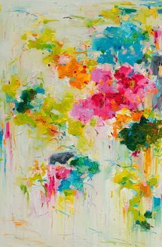 Flower Print 16x20 Abstract Painting