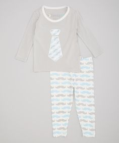Look at this Blue Zigzag Tie Top & Leggings on #zulily today!