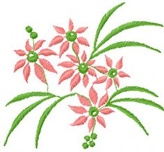 Flowers bouquet machine embroidery design