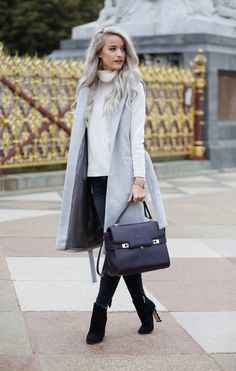 London fashion week outfit with Reiss Jacket, Revolve Turtleneck, 7 For all Mankind Jeans, Dolce and Gabbana Boots, Henri Bendel Tote, Dior Sunglasses, Larsson and Jennings Watch