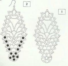 """Résultat de recherche d'images pour """"orecchini uncinetto schemi"""""""