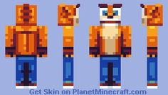 Crash Bandicoot Minecraft Skin - ORANGE <3