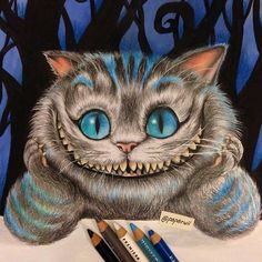 """""""Cheshire cat ! By @paparwii :) - Remember to #artofdrawingg and to kik us for a business enquiry."""""""