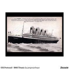 Old Postcard - RMS Titanic