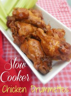 Who doesn't love chicken wings/drummettes for game day? Simmer these low and slow in the crock pot and you have an appetizer to enjoy while cheering on your team