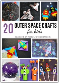 20 Outstanding Outer Space Crafts for Kids to Make and Learn Learn about the planets, galaxies and more with these awesome Outer Space Crafts for Kids! Perfect for Show and Tell or summer STEAM projects! Outer Space Crafts For Kids, Arts And Crafts For Adults, Easy Arts And Crafts, Crafts For Kids To Make, Diy Crafts For Kids, Art For Kids, Space Kids, Space Space, Craft Projects For Kids