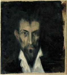 Pablo Picasso, Portr‰t eines Unbekannten im Stil von El Greco, 1, for more please visit http://painting-in-oil.com/artworks-El-Greco-page-1-delta-ALL.html
