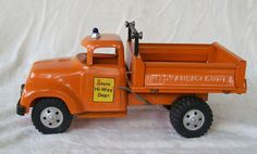 Tonka Ford 1957 State Hi-Way Dept Hydraulic Side Bed Dump Truck with Hood Scoop #TONKA #FORD