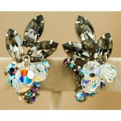 ON SALE Juliana D&E Verified Vintage Bracelet and Earrings Black... (675 ILS) ❤ liked on Polyvore featuring jewelry, earrings, vintage earrings, rhinestone earrings, black diamond jewelry, vintage crystal earrings and vintage rhinestone earrings