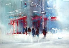 Herry Arifin hasn't been doing watercolour paintings for very long, ...