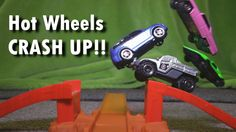 Hot Wheels JUMPS in Slow Motion! CRASH UP Toy CARS and DINOSAURS!!!